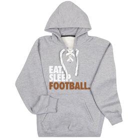 Football Sport Lace Sweatshirt Eat. Sleep. Football.