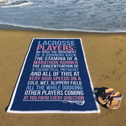 Girls Lacrosse Premium Beach Towel - Lacrosse Players