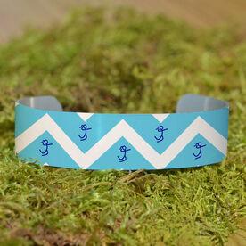 Volleyball Cuff Bracelet (Narrow) Chevron Volleyball Girl Stick Figure