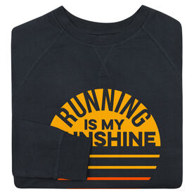 Running Raglan Crew Neck Sweatshirt - Running is My Sunshine