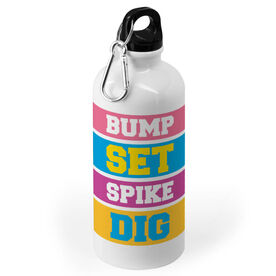 Volleyball 20 oz. Stainless Steel Water Bottle - Words Colorful
