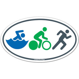 Swim Bike Run (Figures) Triathlon Car Magnet