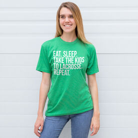 Lacrosse Short Sleeve T-Shirt - Eat Sleep Take The Kids To Lacrosse
