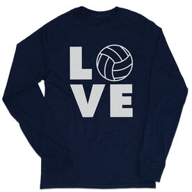 Volleyball Tshirt Long Sleeve - Volleyball Love