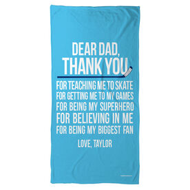 Hockey Beach Towel Dear Dad