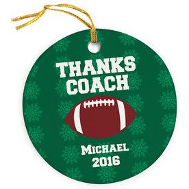 Football Porcelain Ornament Thank You Football Coach