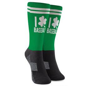 Baseball Printed Mid-Calf Socks - I Shamrock Baseball