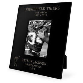Football Engraved Picture Frame - Receiver Stats