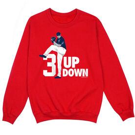 Baseball Crew Neck Sweatshirt - 3 Up 3 Down