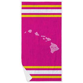 Running Premium Beach Towel - Hawaii State Runner