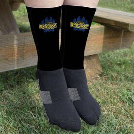Guys Lacrosse Printed Mid-Calf Socks - Your Logo