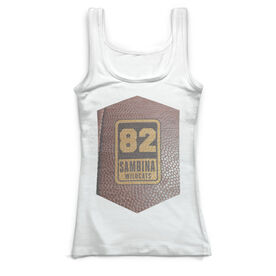 Football Vintage Fitted Tank Top - Personalized Football