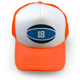 Rugby Trucker Hat - Ball With Number