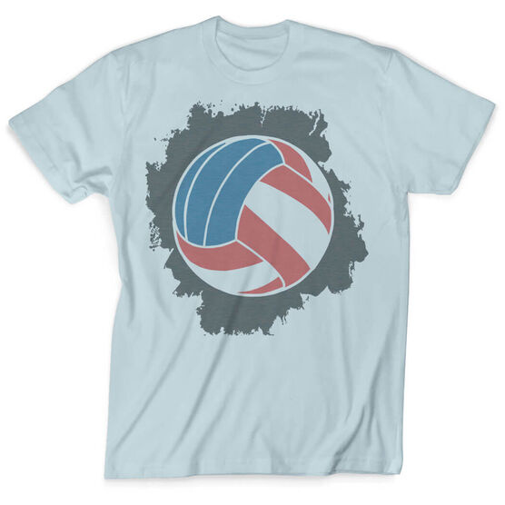 Vintage Volleyball T-Shirt - American Flag Ball  277fea528e17