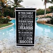 Soccer Premium Beach Towel - We Do Soccer