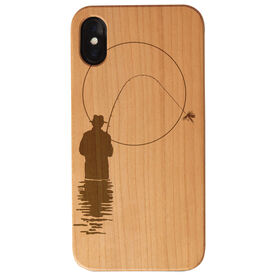 Fly Fishing Engraved Wood IPhone® Case - Early Morning Fisherman