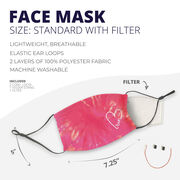 Running Face Mask - Run Heart Tie-Dye