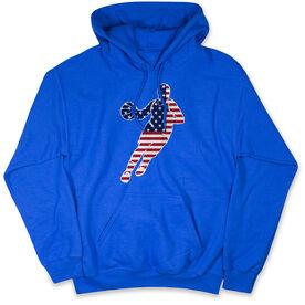 Basketball Hooded Sweatshirt - Basketball Stars and Stripes Player