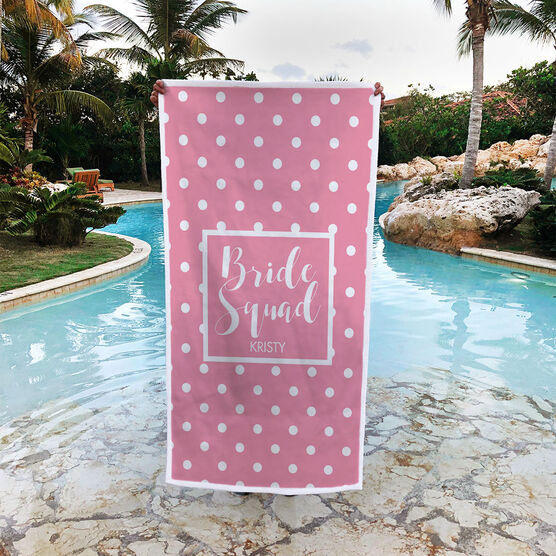 Personalized Premium Beach Towel - Bride Squad
