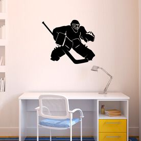 Hockey Goalie Regular Removable ChalkTalkGraphix Wall Decal