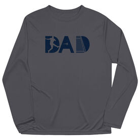 Soccer Long Sleeve Performance Tee - Soccer Dad Silhouette