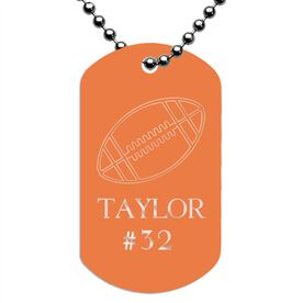 Engraved Personalized Football Dog Tag Necklace