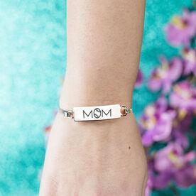 Baseball Engraved Clasp Bracelet - Mom