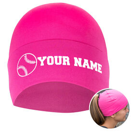 Performance Ponytail Cuff Hat Personalized Name Softball Ball