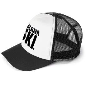 Skiing Trucker Hat - Eat Sleep Ski