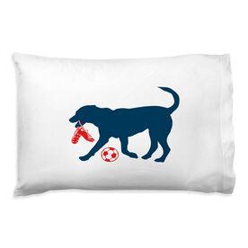 Soccer Pillowcase - Sammy The Soccer Dog
