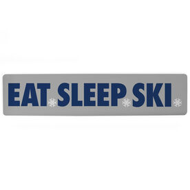 "Skiing Aluminum Room Sign - Eat Sleep Ski (4""x18"")"