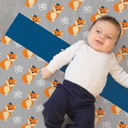 Personalized Baby Blanket - Fox Pattern