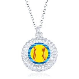 Softball Braided Necklace - Softball