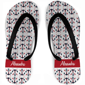 Crew Flip Flops Personalized Anchors