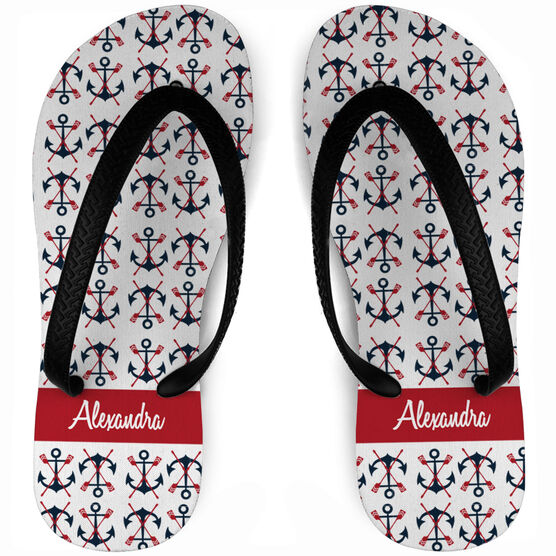 90967b267add Images. Crew Flip Flops Personalized Anchors