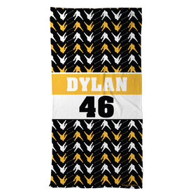 Hockey Beach Towel Personalized Player Pattern