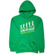 Guys Lacrosse Hooded Sweatshirt - Evolution of Lacrosse