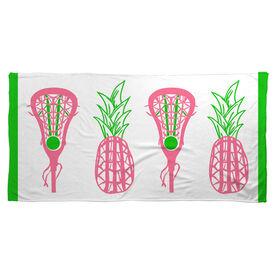Lacrosse Beach Towel Lax Pineapple