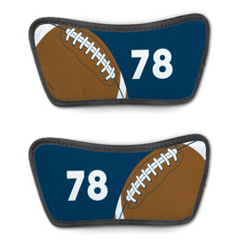 Football Repwell™ Sandal Straps - Ball and Number Reflected