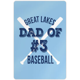 "Baseball Aluminum Room Sign (18""x12"") Personalized Team Baseball Dad Of"