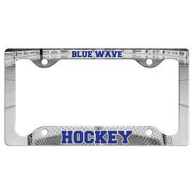 Custom Hockey Team License Plate Holders