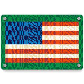 Lacrosse Metal Wall Art Panel - American Flag Mosaic
