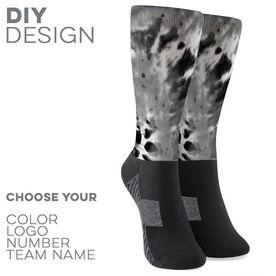 Printed Mid-Calf Socks - Tie Dye