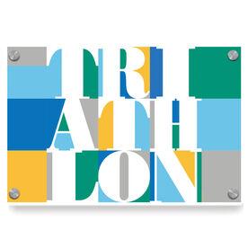 Triathlon Metal Wall Art Panel - Triathlon Mosaic