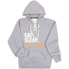 Fly Fishing Sport Lace Sweatshirt Eat. Sleep. Fly Fish.
