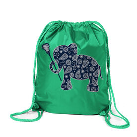 Girls Lacrosse Sport Pack Cinch Sack Lax Elephant