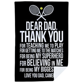 Tennis Premium Blanket - Dear Dad