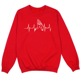 Baseball Crew Neck Sweatshirt - Heartbeat Baseball