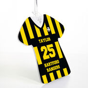 Soccer Jersey Bag/Luggage Tag - Personalized Jersey Stripe