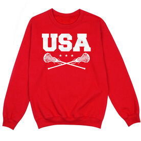 Girls Lacrosse Crew Neck Sweatshirt - USA Girls Lacrosse